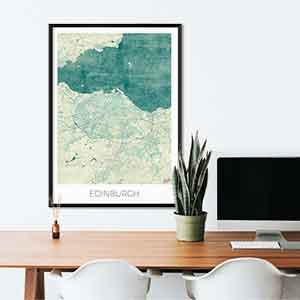 Edinburgh gift map art gifts posters cool prints neighborhood gift ideas