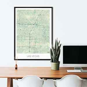 Las Vegas gift map art gifts posters cool prints neighborhood gift ideas