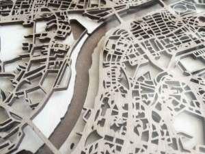 Minimalistic Wooden Maps cityartposters.com