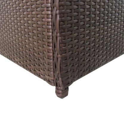 Sodo daiktadėžė, ruda, 120x50x60cm, poliratanas