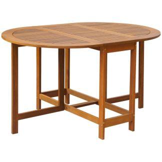 vidaXL Išskleidžiamas lauko stalas iš akacijos medienos, ovalus