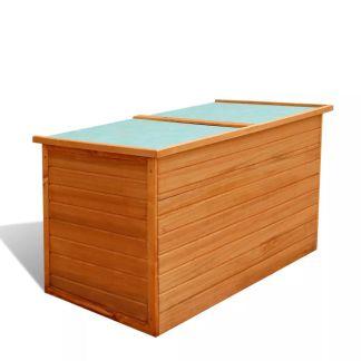 vidaXL Sodo daiktadėžė, 126x72x72 cm, mediena