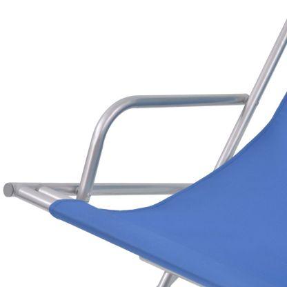 Atlošiami gultai, 2 vnt., plienas, mėlynos spalvos