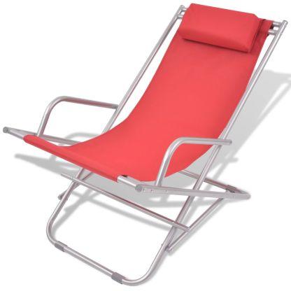 Atlošiami gultai, 2 vnt., plienas, raudonos spalvos