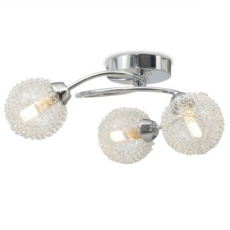 vidaXL Lubų šviestuvas su 3 LED G9 lemputėmis, 120 W