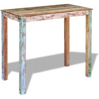 vidaXL Baro stalas, masyvi perdirbta mediena, 115x60x107 cm