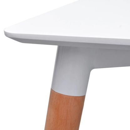 7 dalių valgomojo stalo ir kėdžių komplektas, balta ir mėlyna
