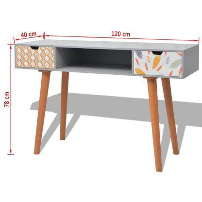 Konsolinis staliukas, MDF, 120x40x78 cm, pilkas