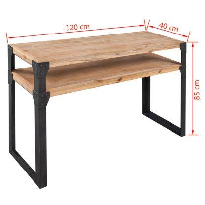 Konsolinis staliukas, tvirta akacijos mediena, 120x40x85 cm