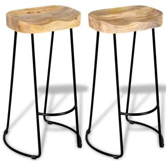 vidaXL Gavin baro kėdės, 2 vnt., masyvi mango mediena