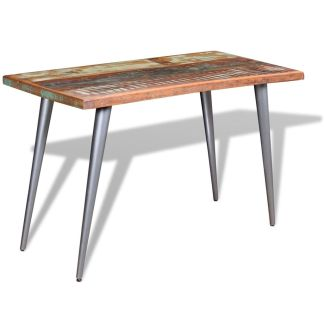 vidaXL Valgomojo stalas, tvirta perdirbta mediena, 120x60x76 cm