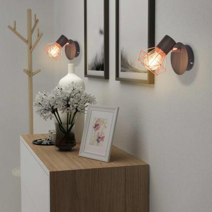 Sieninės lemputės, 2vnt., E14, juoda ir vario spalva