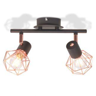 vidaXL Lubinis šviestuvas su 2 LED lemputėmis, 8 W