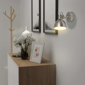 Sieniniai šviestuvai, 2 vnt., pilki, 2 E14 lemputėms
