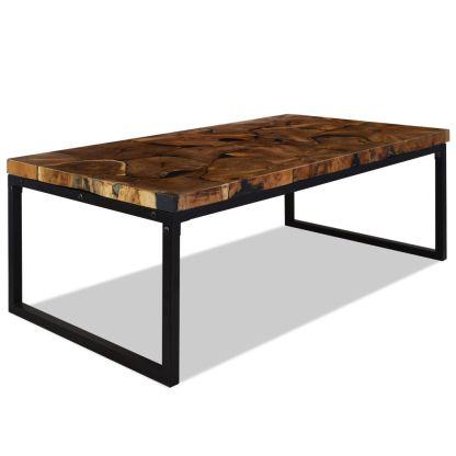 Kavos staliukas, tikmedis ir derva, 110x60x40cm