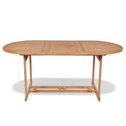 Lauko valgomojo stalas, 180x90x75cm, tikmedis