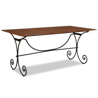 vidaXL Valgomojo staliukas, rausv. dalbergijos mediena, 180x90x76cm
