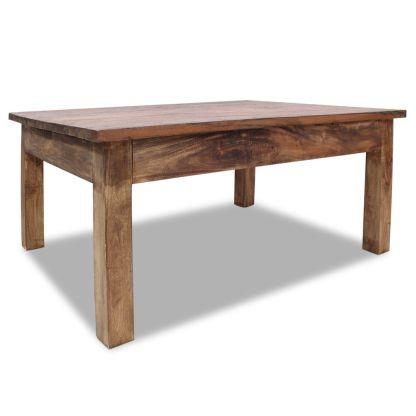 vidaXL Kavos staliukas, masyvi perdirbta mediena, 98x73x45cm