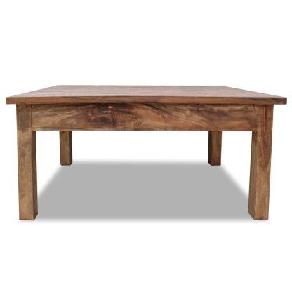 Kavos staliukas, masyvi perdirbta mediena, 98x73x45cm