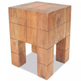 vidaXL Taburetė, masyvi perdirbta mediena, 28x28x40cm
