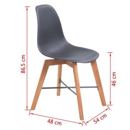 Valgomojo kėdės, 2vnt., juodos
