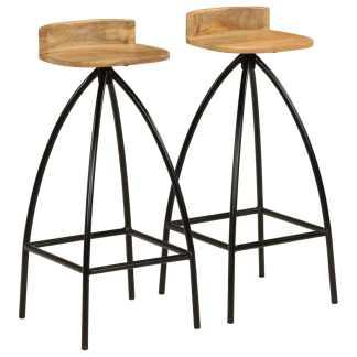 vidaXL Baro kėdės, 2vnt., mango medienos masyvas, 40x40x82cm