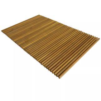 vidaXL Vonios kilimėlis, akacijos mediena, 80 x 50 cm