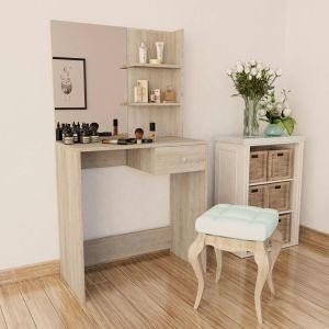 vidaXL Kosmet. staliukas, medienos drožl. plokštė, 75x40x141cm, až.