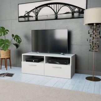 vidaXL Televizoriaus spintelė, drožl. plokštė, 95x35x36 cm, balta
