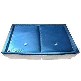 vidaXL Vandens lovos čiužinio kompl. su įdėklu ir pertv., 200x220cm