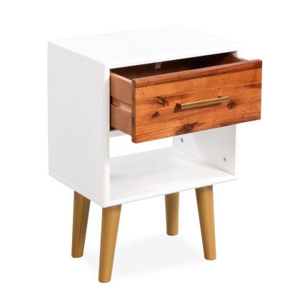Naktiniai staliukai, 2vnt., tvirta akacijos med., 40x30x45cm