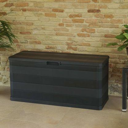 Sodo daiktadėžė, juoda, 117x45x56 cm