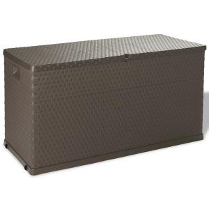 vidaXL Sodo daiktadėžė, ruda, 120x56x63 cm