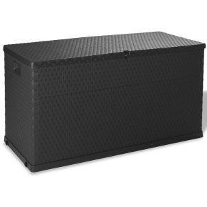 vidaXL Sodo daiktadėžė, antracito pilka, 120x56x63 cm