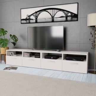 VidaXL 2 TV spintelės, med. drožlių plokštė, 95x35x36cm, ąž. ir balta