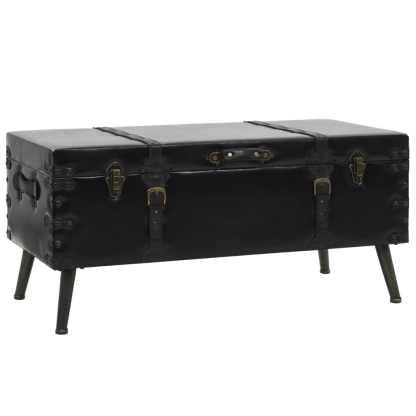 vidaXL Kavos staliukas, MDF ir plienas, 102x51x48cm