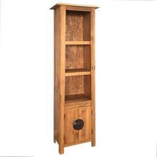 vidaXL Vonios spintelė, masyvi perdirbta pušies mediena, 48x32x170 cm