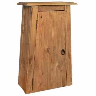 vidaXL Sieninė vonios spintelė, perdirbta pušies med., 42x23x70cm