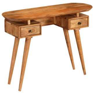 vidaXL Konsolinis staliukas, 100x35x75cm, akacijos medienos masyvas
