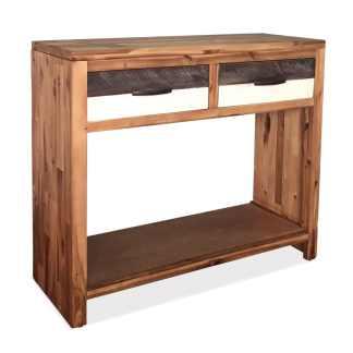 vidaXL Konsolinis staliukas, akacijos mediena, 86x30x75cm