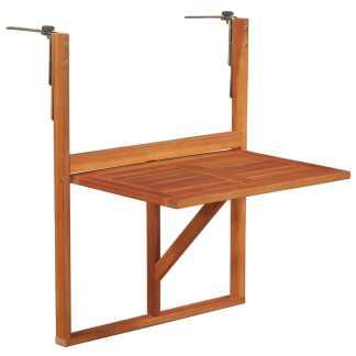 vidaXL Balkono staliukas, akacijos medienos masyvas, rudas