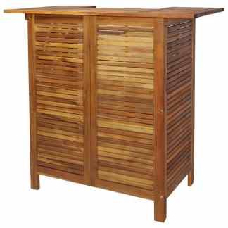 vidaXL Baro stalas, akacijos medienos masyvas, 110x50x105cm
