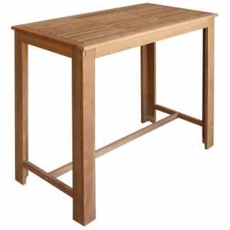 vidaXL Baro stalas, masyvi akacijos mediena, 120x60x105cm