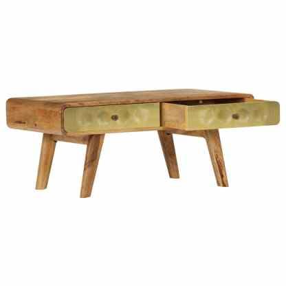 Kavos staliukas, 90x50x40 cm, mango medienos masyvas