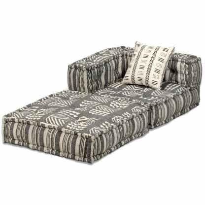 Modulinės sofos kompl., 16d., audin., dryžuot.,