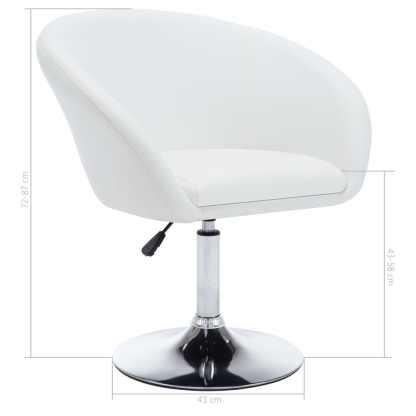 Besisuk. valg. kėdės, 2vnt., dirbt. oda, 67,5×58,5x87cm, balt.