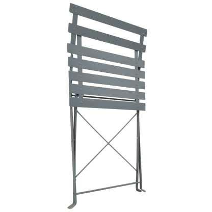 Bistro baldų komplektas, 3 d., pilkos sp., plienas