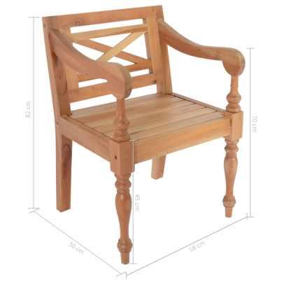 Batavia kėdės, 2 vnt., raudonmedžio masyvas, šviesiai rudos sp.