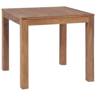 vidaXL Valgomojo stalas, tik. med. mas. su natūr. apd., 82x80x76cm