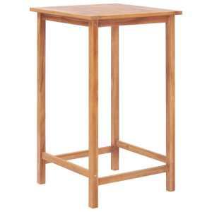vidaXL Lauko baro stalas, 65x65x110 cm, tikmedžio med. masyvas